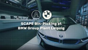 See two complete Bin-Picking systems at BMW production facility in Leipzig, Germany.